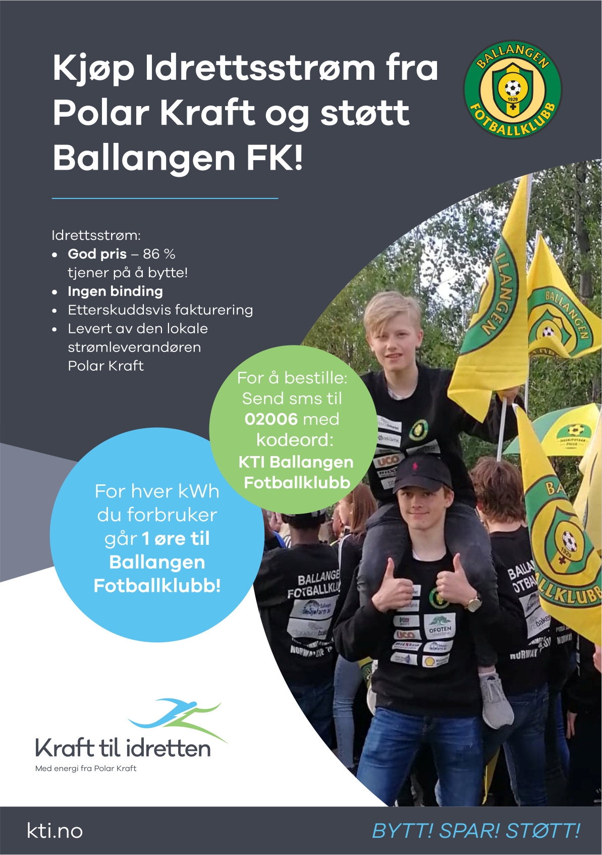 Støtt Ballangen Fotballklubbs barn og unge